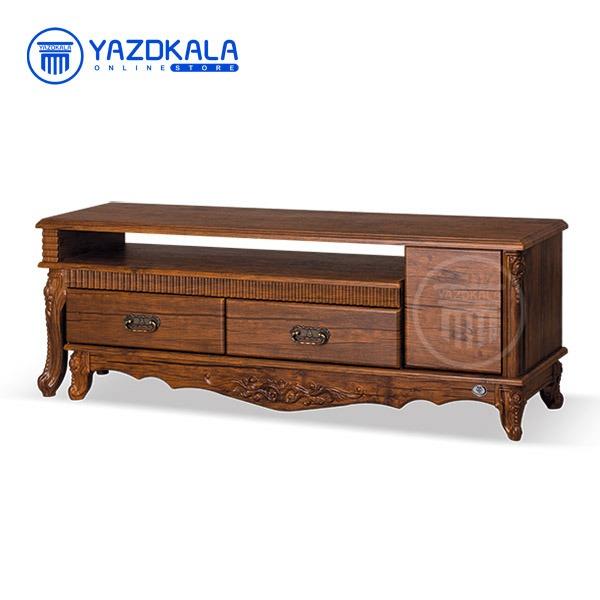 میز تلویزیون MDF متین مدل R702 با قابلیت تغییر سایز ، 140 سانتی
