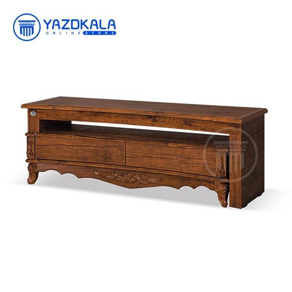 میز تلویزیون MDF متین مدل R710 با قابلیت تغییر سایز ، 140 سانتی