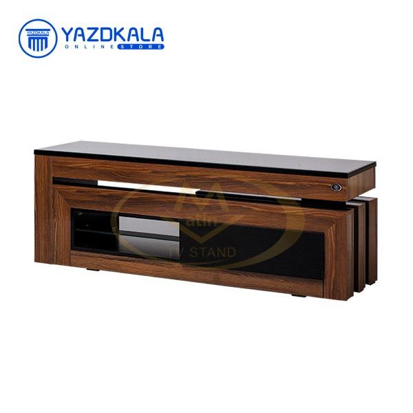 میز تلویزیون MDF متین مدل R104 با قابلیت تغییر سایز ، 140 سانتی