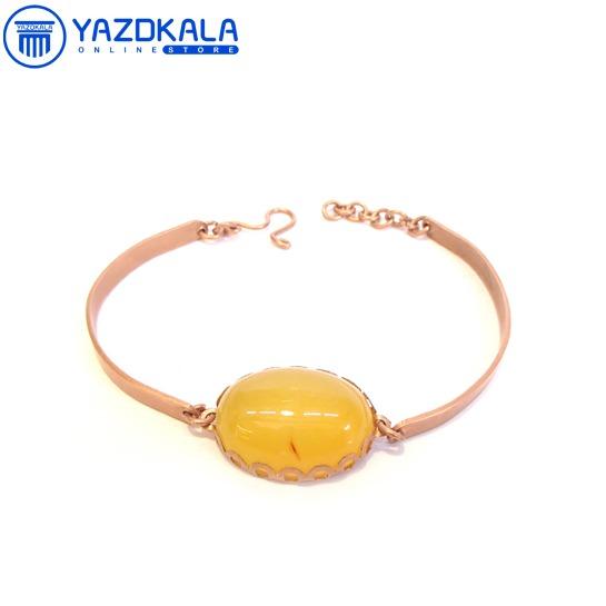 دستبند مسی سنگ هلالی شرف الشمس