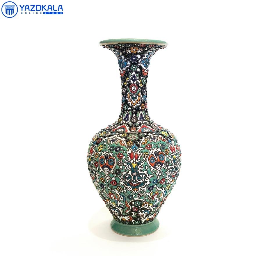 گلدان سفالی میناکاری شده کد 1150