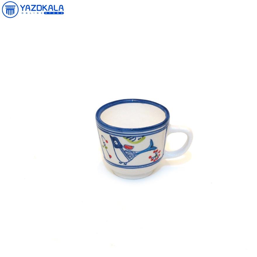 فنجان چای سفالی طرح خورشید2