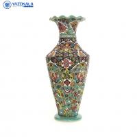 گلدان سفالی میناکاری شده  کد 1212