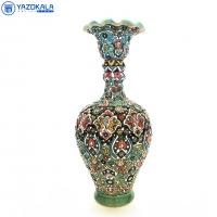 گلدان سفالی میناکاری شده کد 1147