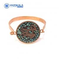 دستبند مسی  فیروزه کوب ماه تولد (خرداد)