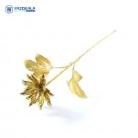 شاخه گل برنج | لعاب برنجی |  طلایی رنگ | کد 2060