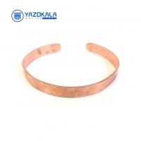 دستبند مسی ساده پهن