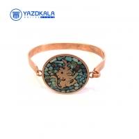 دستبند مسی  فیروزه کوب ماه تولد (مرداد)