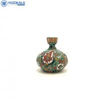 گلدان کوچک سفالی میناکاری شده کد 1154