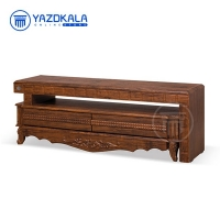 میز تلویزیون MDF متین مدل R708 با قابلیت تغییر سایز ، 140 سانتی